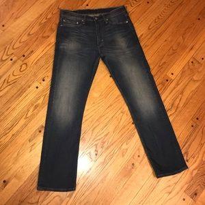 levi's 513 slim fit straight leg jeans 34x32 mens